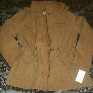 NWT A New Day Hooded Anorak Parka Military Jacket